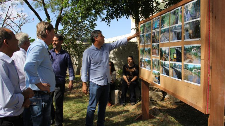 André Correa participa entrega obra de dragagem do Rio das Pedras, em Itatiaia