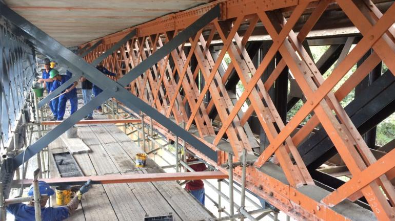 Ponte do Desengano, obras a todo vapor!