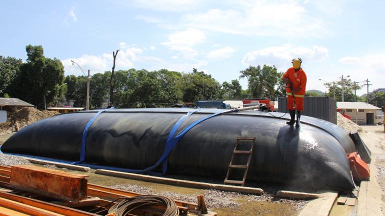 Obra do Coletor Tronco Cidade Nova reduz em 85% o consumo previsto de água