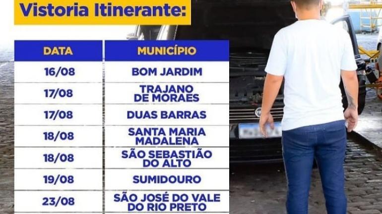DETRAN.RJ LEVA VISTORIA ITINERANTE À REGIÃO SERRANA