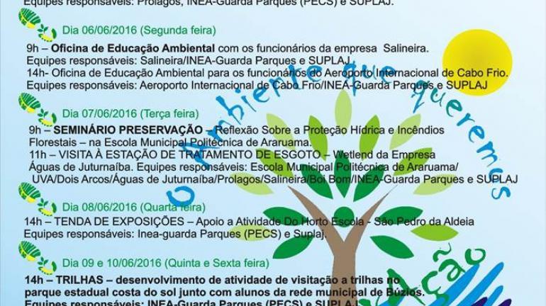 Plantio de mudas inicia comemorações pelo Dia Mundial do Meio Ambiente em Rio das Ostras e Macaé