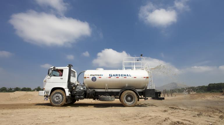 Obra do Sistema de Esgotamento Sanitário em Alcântara reaproveita a água utilizada no canteiro e reduz o desperdício