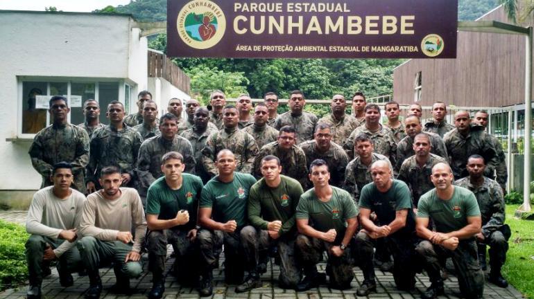 Parque Estadual Cunhambebe recebe etapa do curso para agentes do Comando de Polícia Ambiental