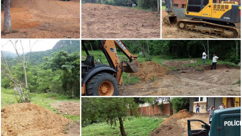 Polícia ambiental flagra crime de desmatamento em Teresópolis, no RJ