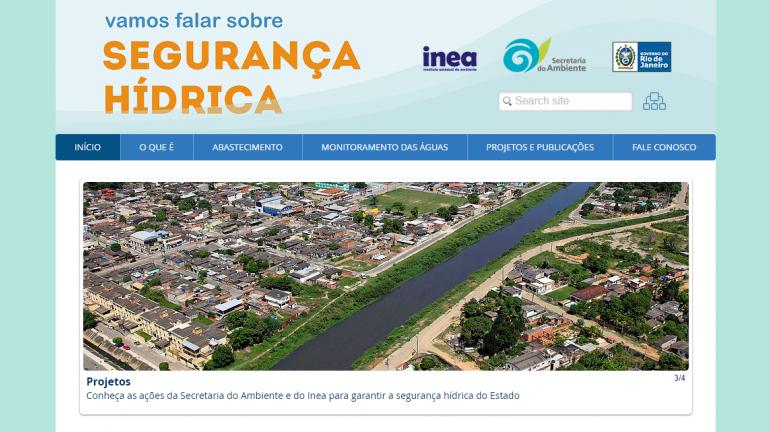 Secretaria do Ambiente e Inea lançam site sobre segurança hídrica