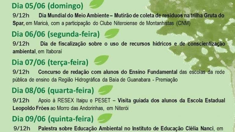 Instituto Estadual do Ambiente promoverá oficinas de reaproveitamento de resíduos na Praia de Icaraí