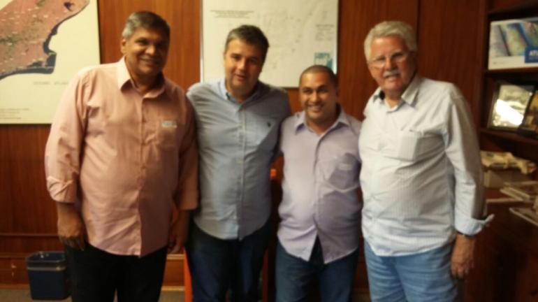 Vereadores Demilson Monteiro e Dunga e deputado André Corrêa solicitam ao Inea dragagem de rios de Cachoeiras de Macacu