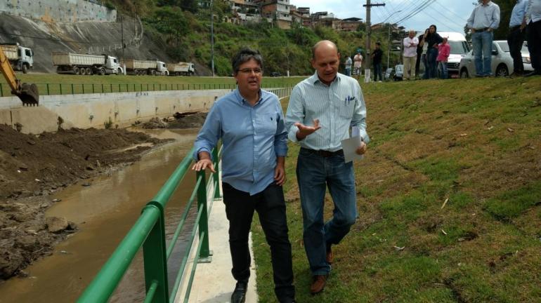 Obra no Rio Bengalas completa três anos e risco de enchentes diminui em Nova Friburgo
