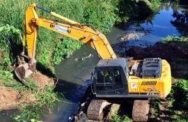 Rio Barra Mansa começa a ser dragado