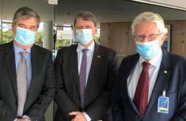 Luiz Antônio E André Corrêa Se Reúnem Com Ministro Tarcísio Para Tratar De Infraestrutura No Interior Do Rio