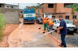 Equipes do Governo do Estado auxiliam operação após fortes chuvas em Areal