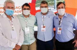 Governador Cláudio Castro, prefeito Professor Lucas e deputados André Corrêa e Luiz Antônio Corrêa participaram da inauguração da BRF em Seropédica