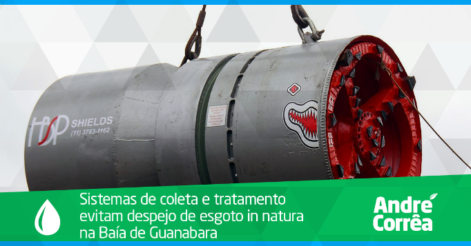 Obras de saneamento no Rio de Janeiro visam contribuir com recuperação da Baía de Guanabara e qualidade de vida da população