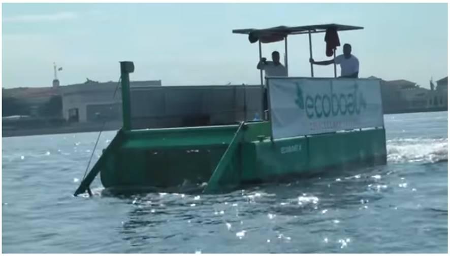 Novo sistema de contenção e coleta de lixo na Baía de Guanabara retira 3 mil toneladas de lixo em seis meses