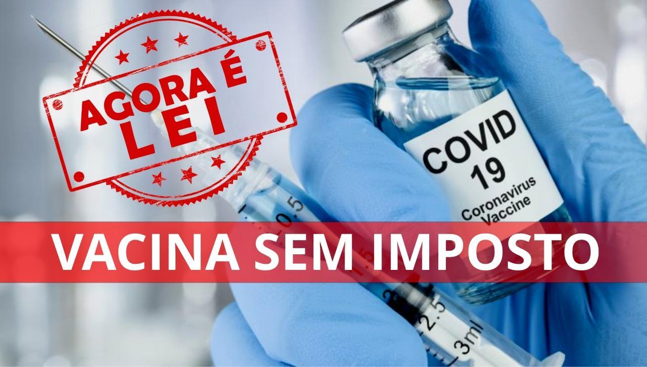 Lei n° 9.243/21- Imunidade tributária para vacinas no estado do Rio