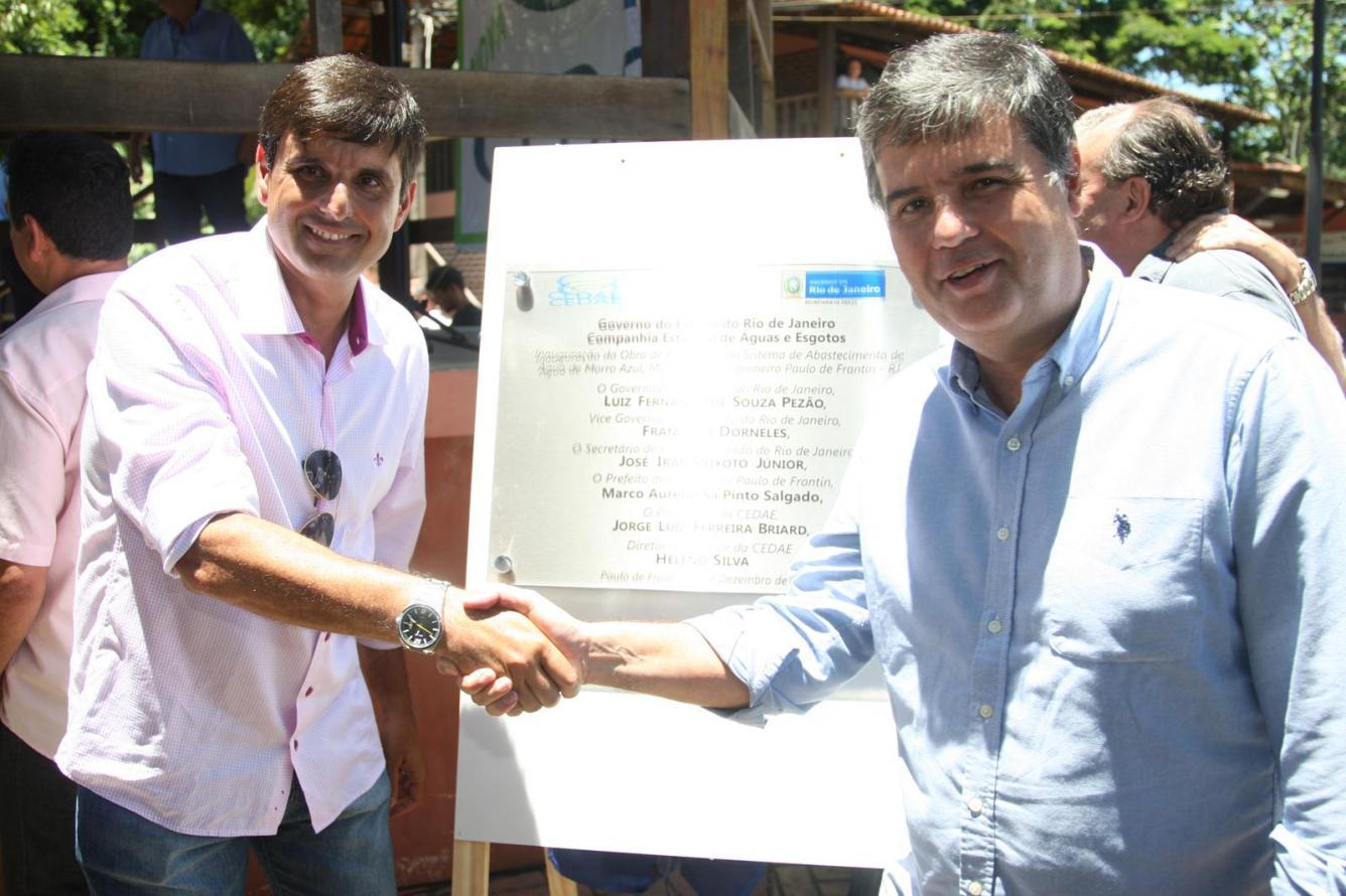 Secretário André Corrêa inaugura sistema de abastecimento de Engenheiro Paulo de Frontin