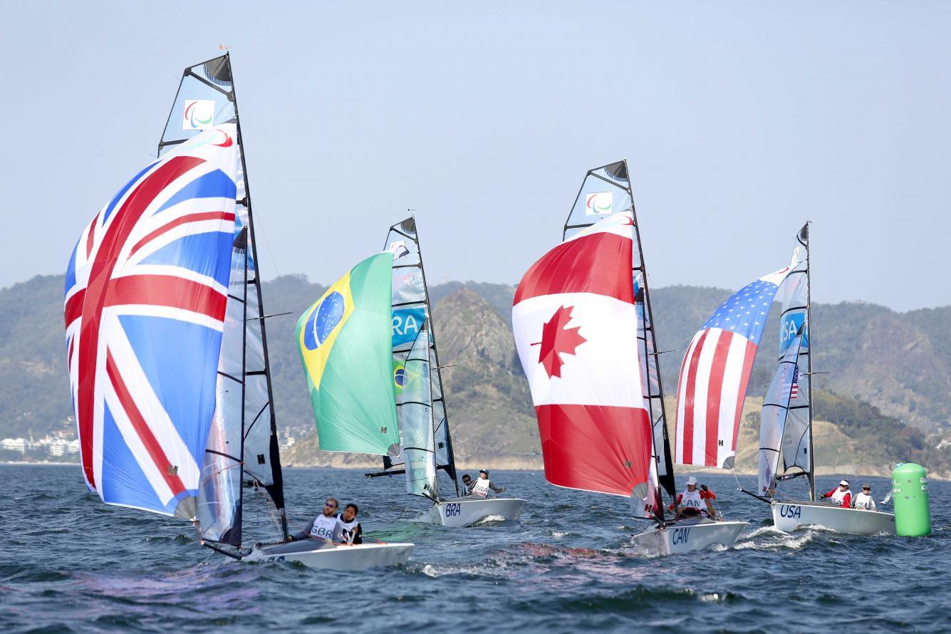 Primeiro dia da competição de Vela nas Paralimpíadas, na Baia de Guanabara - Crédito: Clarice Castro