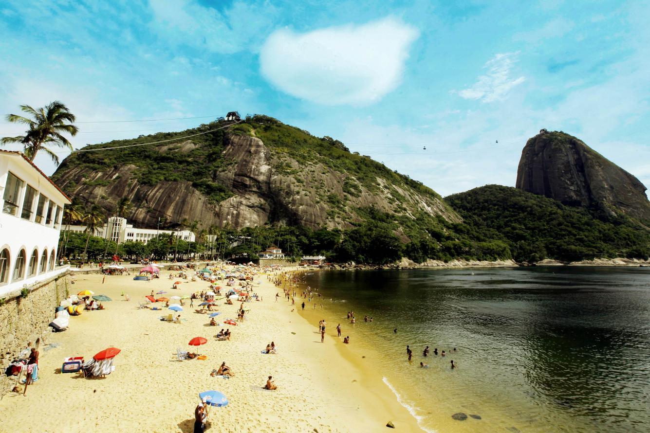 Praia da Urca esteve própria para o banho em 90% dos boletins de 2017