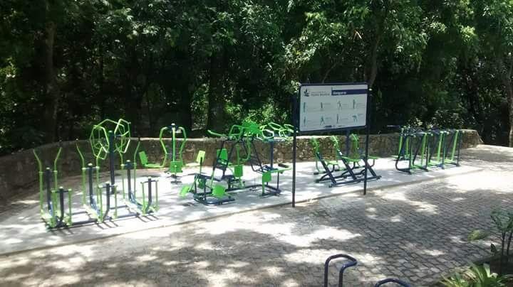 Instituto Estadual do Ambiente inaugura academia da 3ª idade no Parque Estadual Pedra Branca, na Zona Oeste do Rio