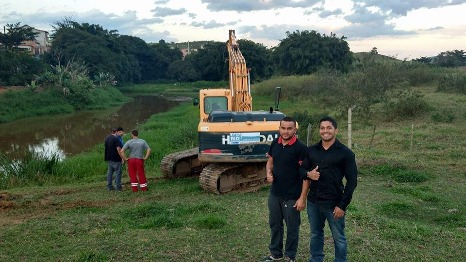 Inea e Prefeitura de Quatis concluem limpeza de ribeirão