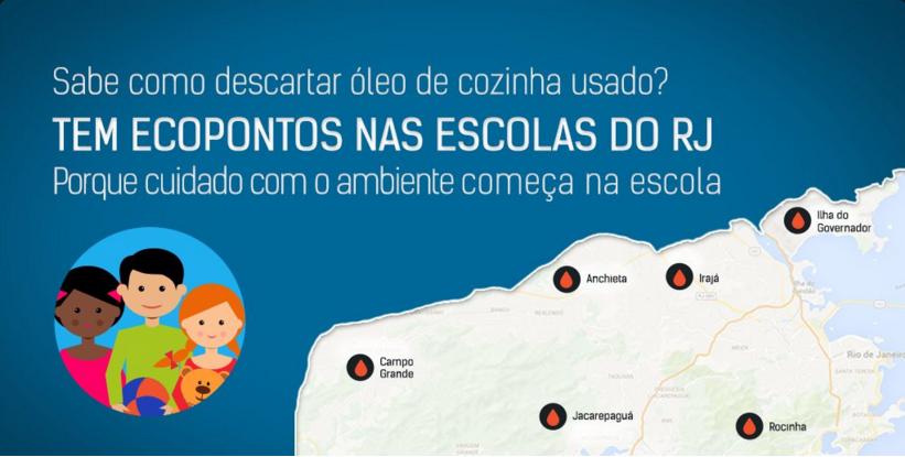 ESCOLAS TERÃO PONTOS DE COLETA DE ÓLEO DE COZINHA