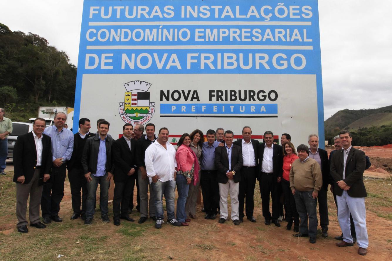 Lançamento da Pedra Fudamental do Condomínio Empresarial em Nova Friburgo