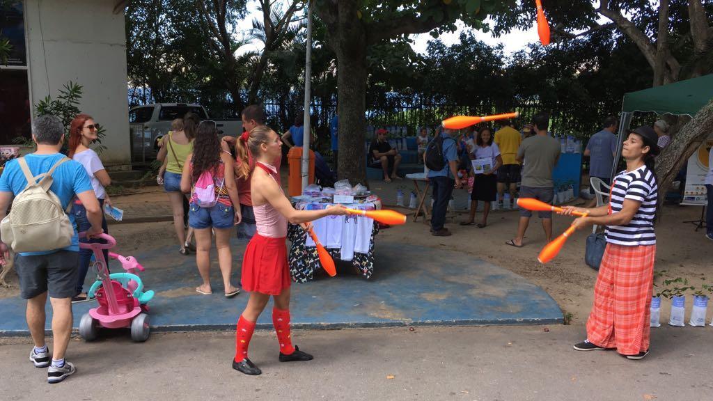 População participa de atividades de conscientização ambiental neste domingo na Lagoa, na Zona Sul do Rio