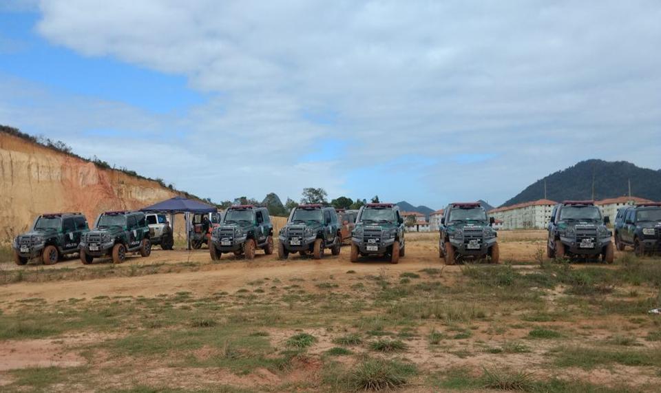 Policiais Ambientais fazem treinamentos com novas viaturas que irão atuar em áreas de difícil acesso